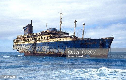 shipwrecked ocean liner