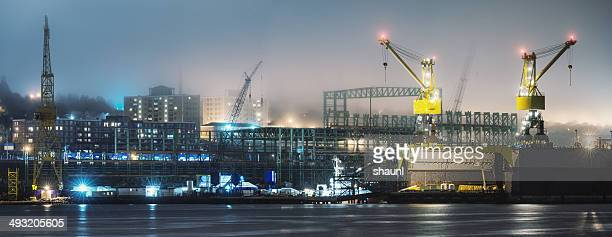 Shipyard in Fog