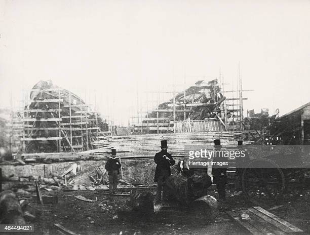 Shipyard of James Ash Co Cubitt Town London c1863 James Ash Co were builders of iron ships The company was founded in 1862 but the yard never became...