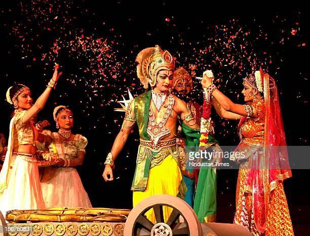 'NEW DELHI INDIA OCTOBER 17 Shir Ram kala kendra present Ramayana dance drama Epic at Mandi house on October 17 2012 in New Delhi India '