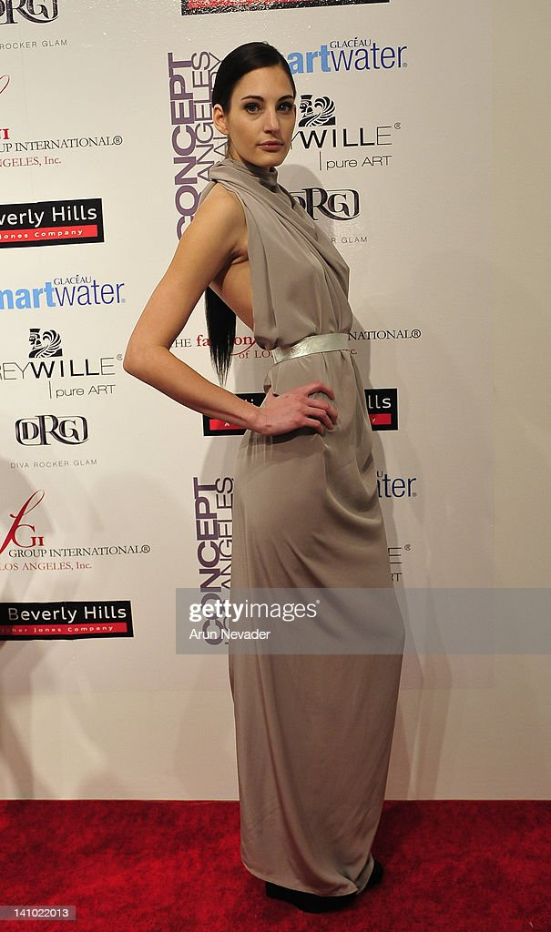 Shira Alexandra (muse to Mike Vensel) appears on the red carpet at 'Meet The Designer and the Muse' at Ace Gallery on March 8, 2012 in Los Angeles, California.