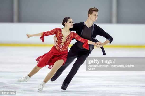 Shira Iichilov and Vadim Davidovich of Israel compete in the Junior Ice Dance Free Dance during day 3 of the Riga Cup ISU Junior Grand Prix of Figure...