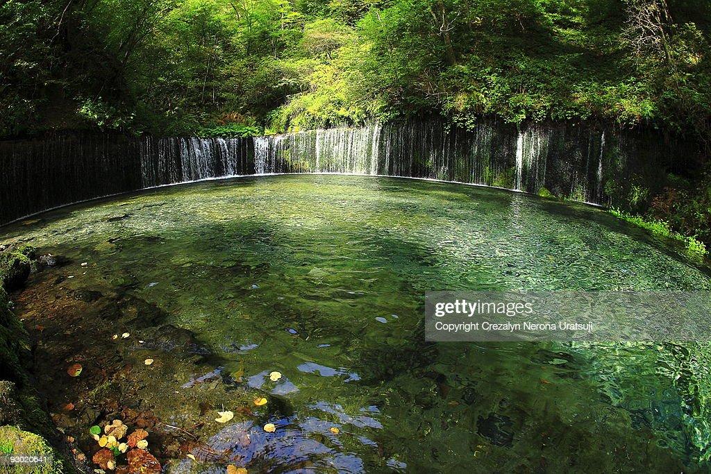 Shiraito-falls Stock Image - Image: 26461421