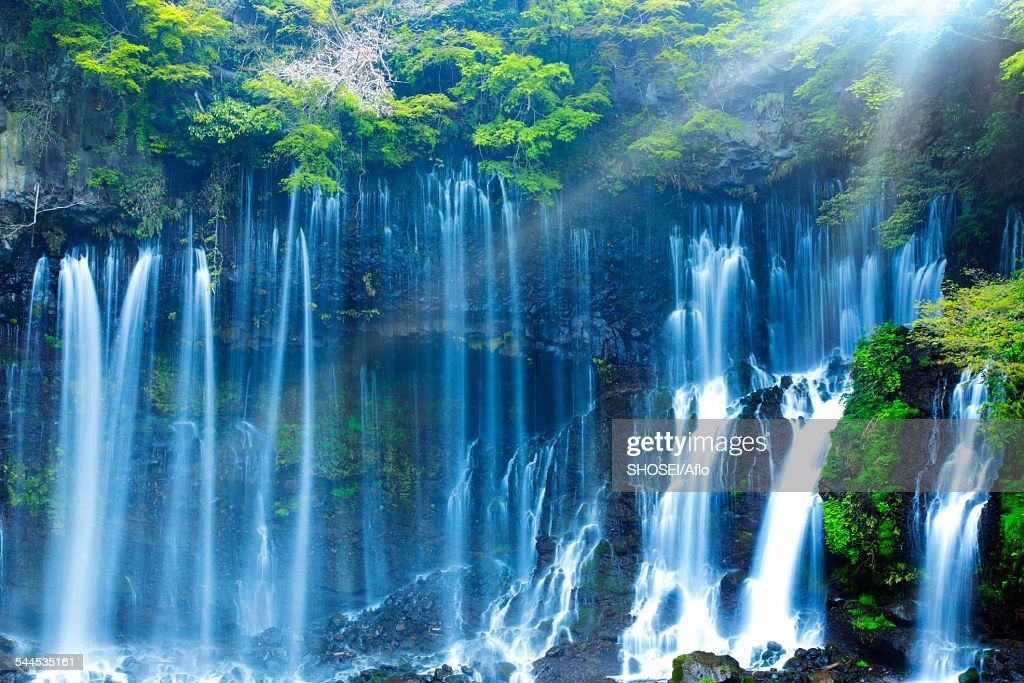 Shizuoka Japan  city images : Shiraito Falls Shizuoka Prefecture Japan Stock Photo | Getty Images