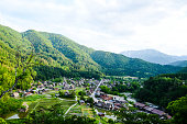 Shirakawa-go in the Spring Evening, UNESCO World Heritage Sites, Japan