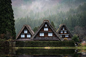 The ancient house in the UNESCO heritage village in Japan.