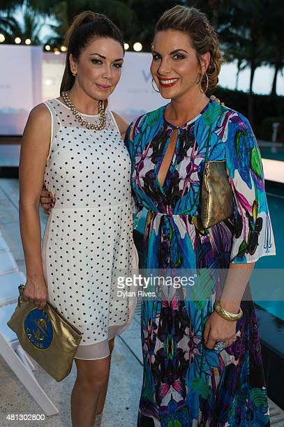 Shireen Sandoval and Jackie Kay attend CFDA Incubator show and cocktail party at W South Beach For SWIMMIAMI 2016 at W South Beach Hotel Residences...