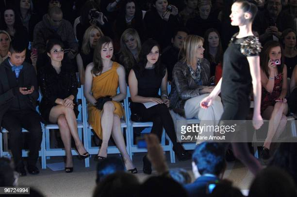 Shiri Appleby Melissa George Sophia Bush and Mary Alice Stephenson attend Monique Lhuillier Fall 2010 during MercedesBenz Fashion Week at Bryant Park...
