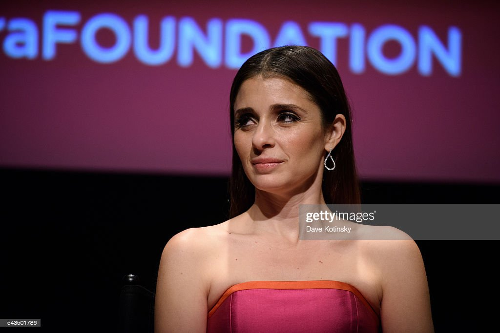 Shiri Appleby speaks SAG-AFTRA Foundation Conversations With The Cast Of 'UnREAL'at NYIT Auditorium on Broadway on June 28, 2016 in New York City.