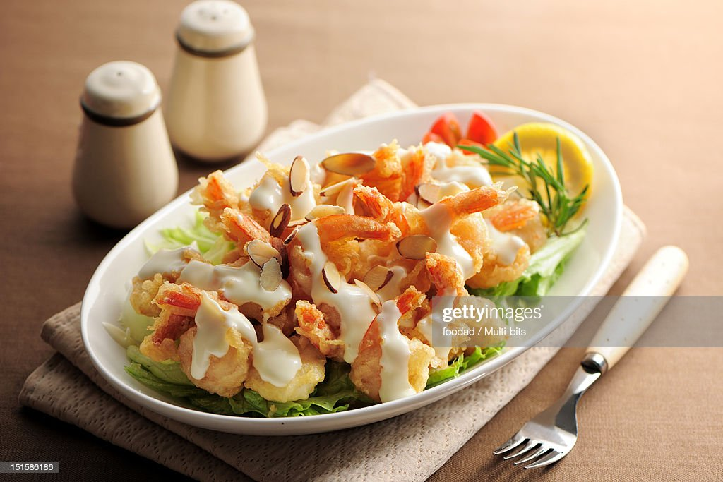 Shirimp salad : Stock Photo