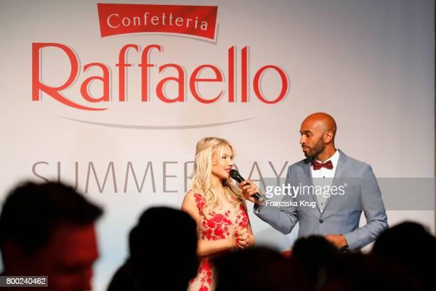 Shirin David and Chris Brow attend the Raffaello Summer Day 2017 to celebrate the 27th anniversary of Raffaello on June 23 2017 in Berlin Germany