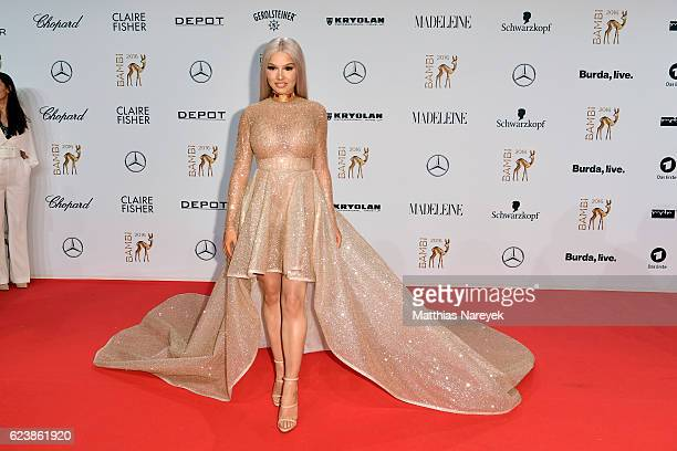 Shirin David arrives at the Bambi Awards 2016 at Stage Theater on November 17 2016 in Berlin Germany