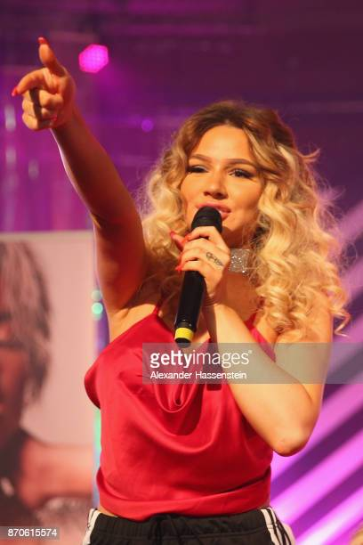 Shirin David attends the GLOW The Beauty Convention at Station on November 5 2017 in Berlin Germany