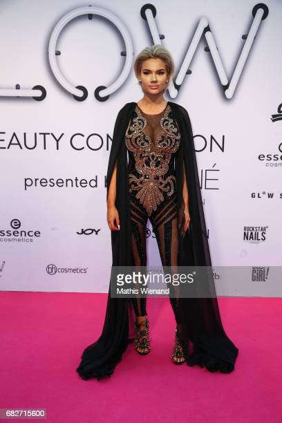 Shirin David attends the GLOW The Beauty Convention on May 13 2017 in Duesseldorf Germany