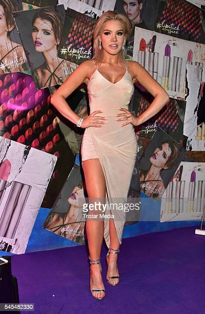 Shirin David attends the URBAN DECAY Vice Lipstick Launch at Prince Charles Club on July 7 2016 in Berlin Germany