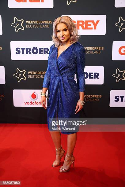 Shirin David attends the Webvideopreis Deutschland 2016 at Castello on June 4 2016 in Duesseldorf Germany
