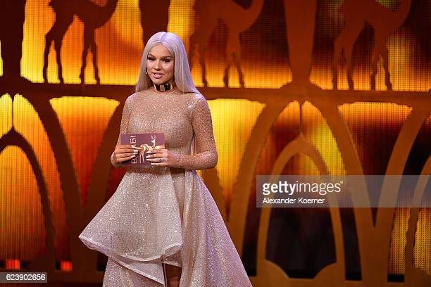 Shirin David is seen on stage during the Bambi Awards 2016 show at Stage Theater on November 17 2016 in Berlin Germany