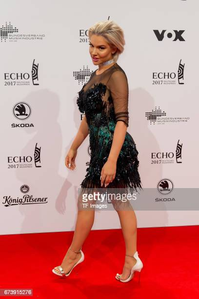 Shirin David on the red carpet during the ECHO German Music Award in Berlin Germany on April 06 2017