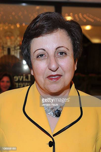 Shirin Ebadi attends 'Science For Peace' Gala Dinner on November 18 2010 in Milan Italy