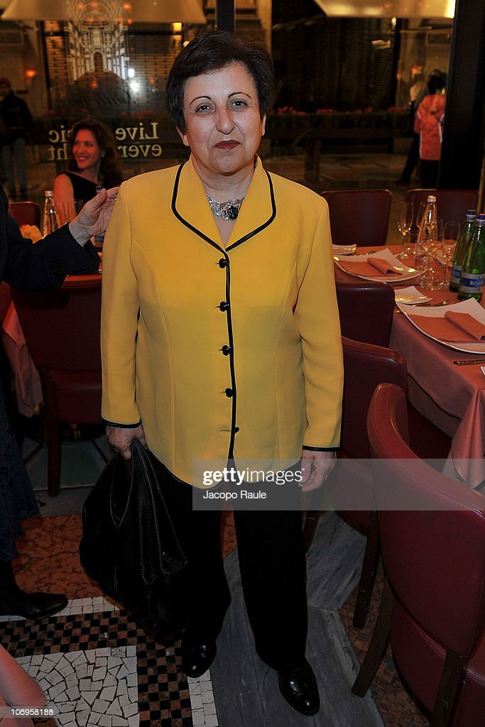 <a gi-track='captionPersonalityLinkClicked' href=/galleries/search?phrase=Shirin+Ebadi&family=editorial&specificpeople=563922 ng-click='$event.stopPropagation()'>Shirin Ebadi</a> attends 'Science For Peace' Gala Dinner on November 18, 2010 in Milan, Italy.