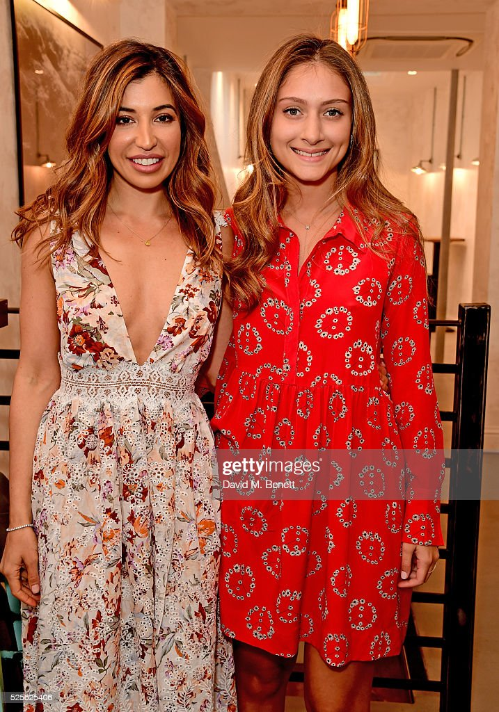 Shirin Kouros (L) and Yasmine Larizadeh attend the The Good Life Eatery Cookbook Launch Party��in Knightsbridge on April 28, 2016 in London, England.