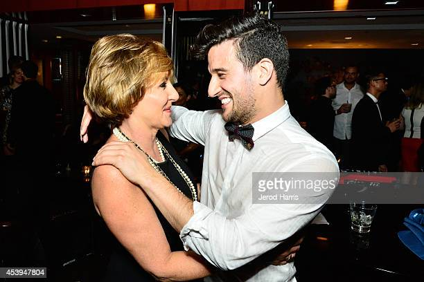 Shirley Ballas and Mark Ballas attend OK TV Awards Party at Sofitel Hotel on August 21 2014 in Los Angeles California