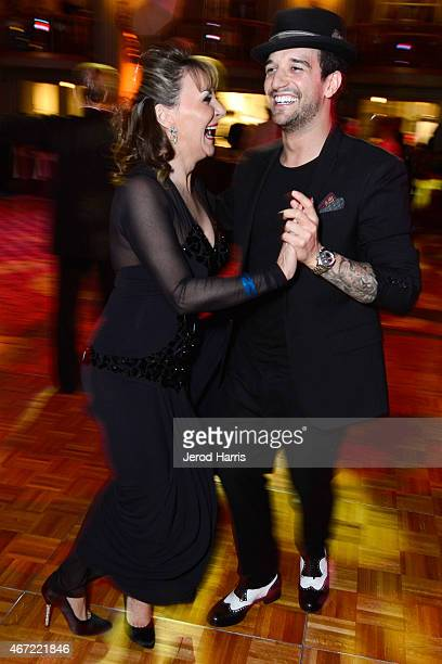 Shirley Ballas and Mark Ballas attend the 2015 Royal Ball Hollywood Gala at Millennium Biltmore Hotel on March 21 2015 in Los Angeles California