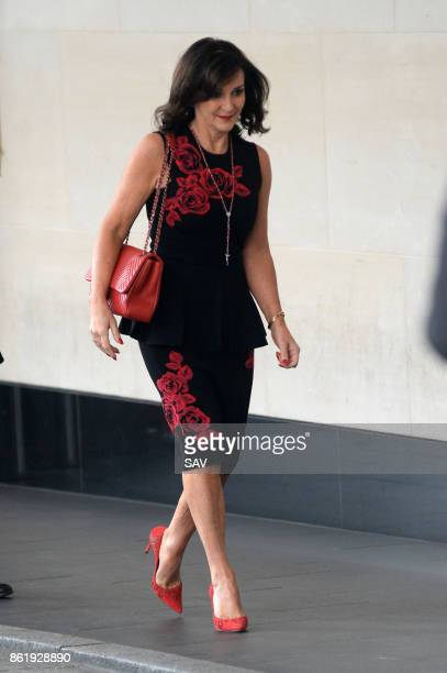 Shirley Ballas arrives at the Women Of The Year Awards at the InterContinental Hotel on October 16 2017 in London England