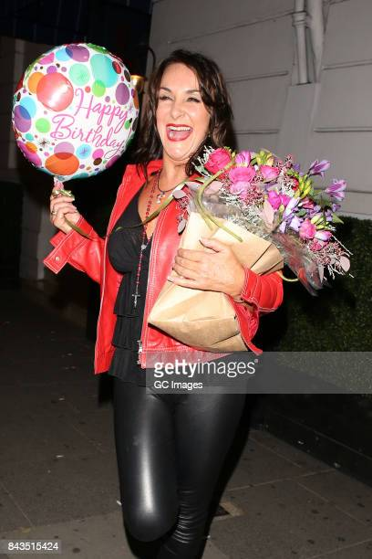 Shirley Ballas leaving Alberts club after her 56th Birthday celebrations on September 6 2017 in London England