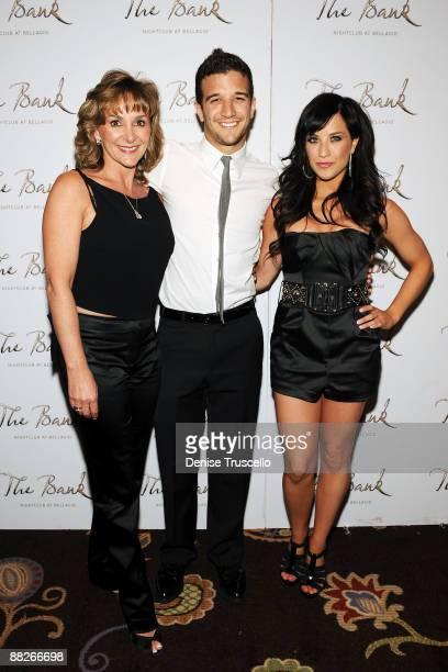 Shirley Ballas Mark Ballas and Joanna Pacitti arrive at The Bank Nightclub at the Bellagio Hotel Casino on June 5 2009 in Las Vegas Nevada