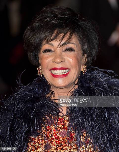 Shirley Bassey attends the Royal Film Performance of 'Spectre' at Royal Albert Hall on October 26 2015 in London England