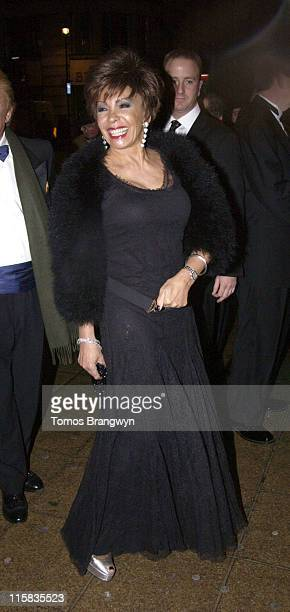 Shirley Bassey during 'Sinatra Live at the London Palladium' Opening Night at The London Palladiun in London Great Britain