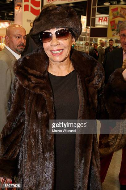 Shirley Bassey pose for the camera at the VIPReception on LambertzAreal at a ChocolateFair on January 30 2012 in Cologne Germany