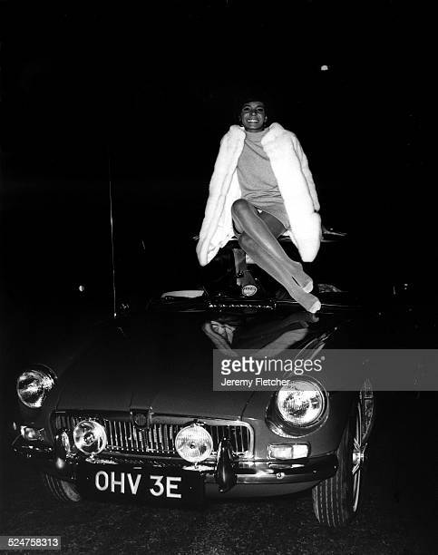 Shirley Bassey with an MG car United Kingdom 16th March 1967