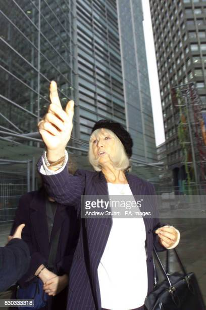 Shirley Bennet a member of Marchioness Group hails a taxi after a meeting with Deputy Prime Minister John Prescott at the Department of Environment...
