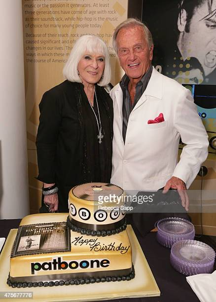 Shirley Boone and singer Pat Boone attend An Evening With Pat Boone at The GRAMMY Museum on June 2 2015 in Los Angeles California