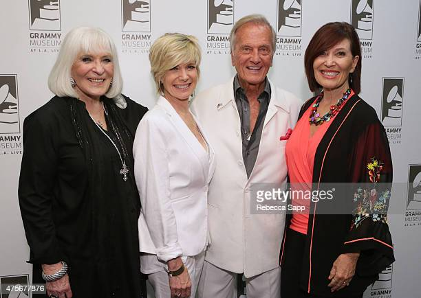 Shirley Boone Debby Boone singer Pat Boone and Lindy Boone attend An Evening With Pat Boone at The GRAMMY Museum on June 2 2015 in Los Angeles...