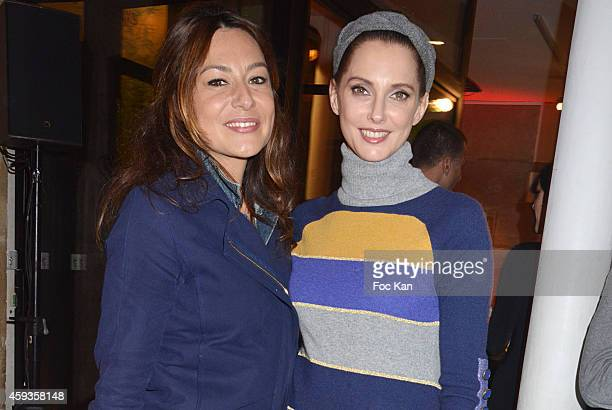 Shirley Bousquet and Frederique Bel attend the Acer Pop Up Store Launch Party at Les Halles on November 20 2014 in Paris France