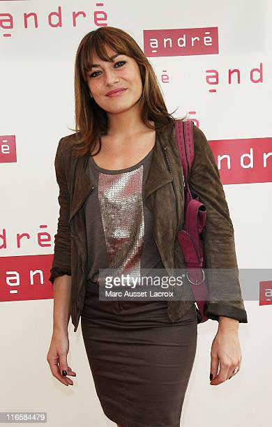 Shirley Bousquet attend the 'Andre' Rive Gauche Flagship Opening on June 16 2011 in Paris France