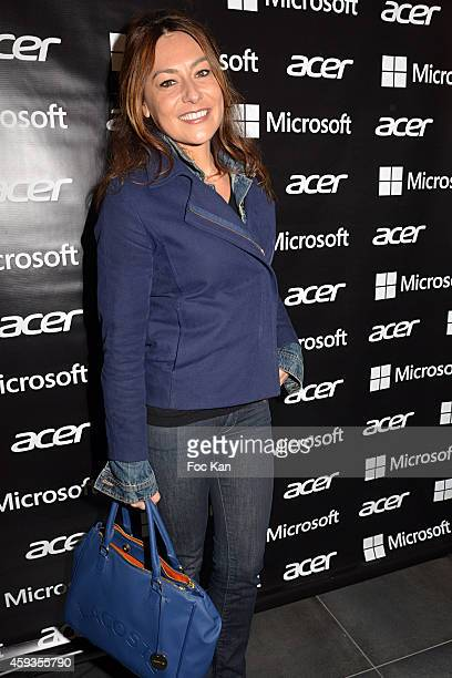 Shirley Bousquet attends the Acer Pop Up Store Launch Party at Les Halles on November 20 2014 in Paris France