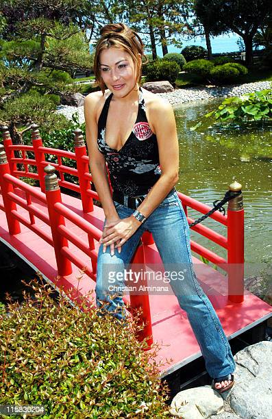 Shirley Bousquet during 44th Monte Carlo Television Festival Shirley Bousquet Photocall at Japanese Gardens in Monte Carlo Monaco