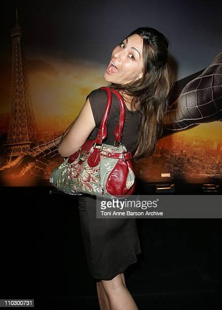 Shirley Bousquet during 'SpiderMan 3' Paris Premiere Inside Arrivals at Le Grand Rex Theater in Paris France