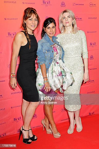 Shirley Bousquet Reem Kherici and Cecile Cassel attend the 'Paris A Tout Prix' premiere as part of The Champs Elysees Film Festival 2013 at UGC...