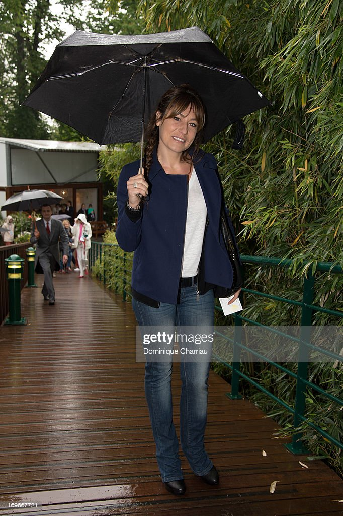 Shirley Bousquet sightings At French Open 2013 at Roland Garros on May 30, 2013 in Paris, France.