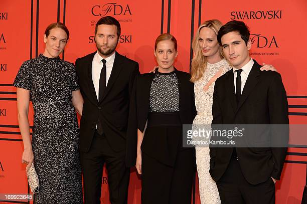 Shirley Cook Jack McCollough Victoria Traina Lauren Santo Domingo and Lazaro Hernandez attend 2013 CFDA Fashion Awards at Alice Tully Hall on June 3...