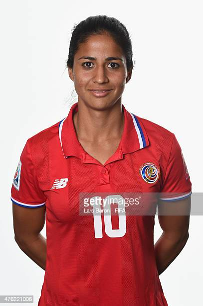 Shirley Cruz of Costa Rica poses during the FIFA Women's World Cup 2015 portrait session at Sheraton Le Centre on June 6 2015 in Montreal Canada