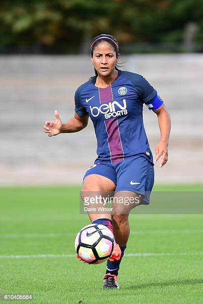 Shirley Cruz of PSG during the women's French D1 league match between PSG and Olympique de Marseille at Camp des Loges on September 25 2016 in Saint...
