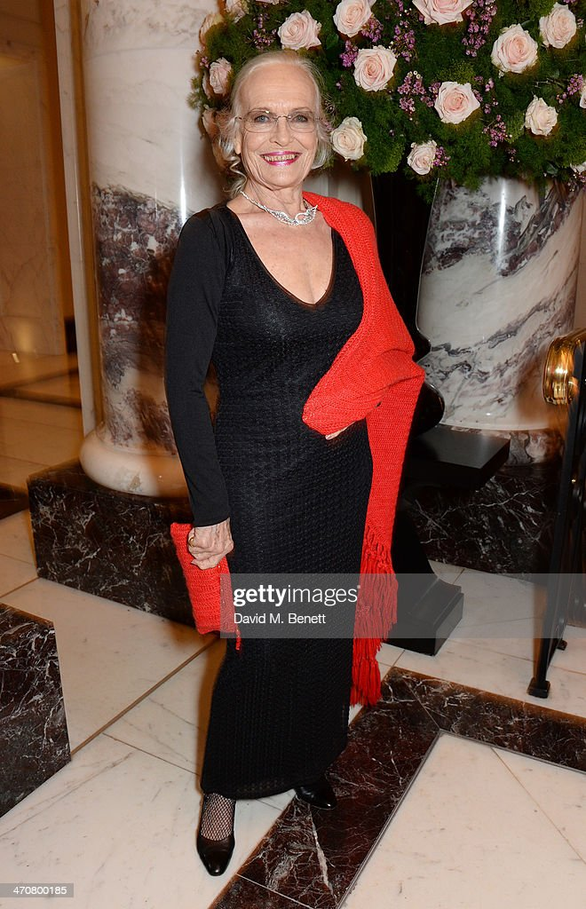 <a gi-track='captionPersonalityLinkClicked' href=/galleries/search?phrase=Shirley+Eaton&family=editorial&specificpeople=900615 ng-click='$event.stopPropagation()'>Shirley Eaton</a> attends a one night private view of 'Cocktails With Monroe' at the Langham Hotel on February 20, 2014 in London, England.