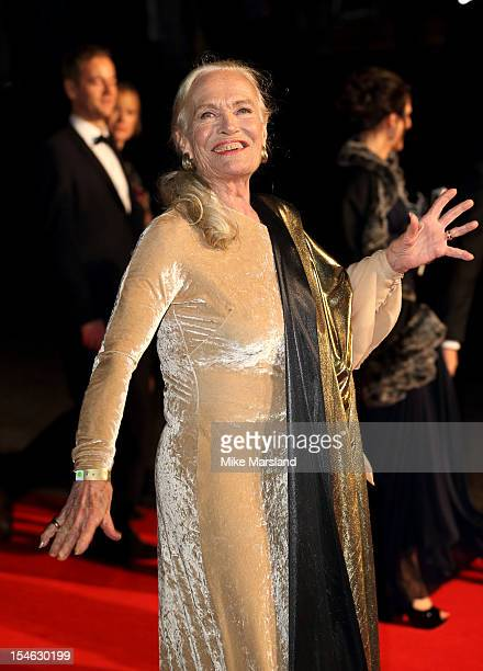 Shirley Eaton attends afterparty for the Royal World Premiere of 'Skyfall' at Tate Modern on October 23 2012 in London England