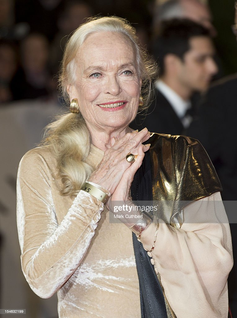 Shirley Eaton attends the Royal World Premiere of 'Skyfall' at Royal Albert Hall on October 23, 2012 in London, England.